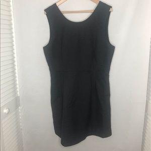 GAP Sleeveless Black dress small white polka dot